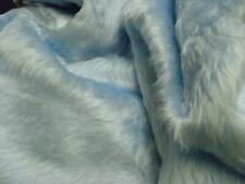 Plain Fun Faux Fur Fabric Material BABY BLUE