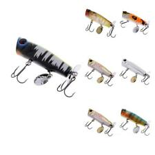 Popper Fishing Lure Floating Bass Baits Crankbait Fishing Tackle with Hooks
