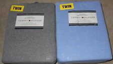 Tommy Hilfiger Classic Soft Jersey Sheet Set Twin XL Gray or Blue Heather NWT