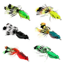 Silicone Frog Soft Fishing Lures Bass Crankbait Floating Baits with Skirts