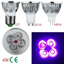 4W 5W E27 GU10 MR16 UV LED Ultraviolet Spotlight Lamp Bulb AC 85-265V