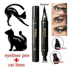 3Pcs Dual-ended Eyeliner Pen With Stamp+Cat Eyeshadow Ruler Template Card SC 21