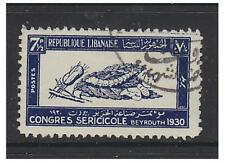 Lebanon - 1930, 7 1/2p Silk Congress stamp - Used - SG 159