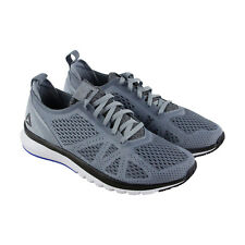 Reebok Print Smooth Clip Ultk Mens Gray Mesh Athletic Lace Up Running Shoes