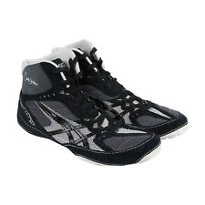 Asics Cael V5.0 Mens Black Synthetic Athletic Lace Up Wrestling Shoes