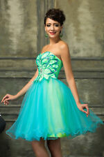 Ball Dress Evening Prom Cocktail Homecoming Soft Tulle Party Wedding Short Gown
