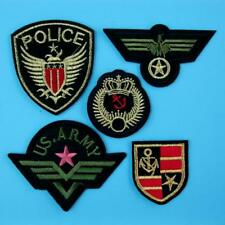 5 Army Military Police Airforce Iron on Sew Embroidered Patch Badge Applique Lot