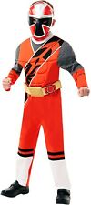 Boys Red Muscle Chest Power Rangers Ninja Steel Party Fancy Dress Costume Outfit