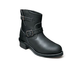 Chippewa Boots Steel Toe BLACK ENGINEER Motorcycle Boots USA Made 27872