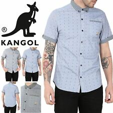 Kangol Mens Noah Contrast Dots Turn Up Short Sleeve Collared Front Pocket Shirt
