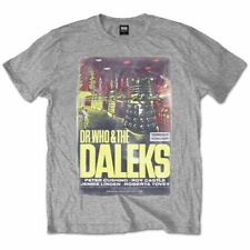 Dr Who - Dr. Who And The Daleks Movie Poster GREY Shirt