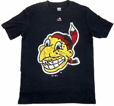 Boy's 8-18 Cleveland Indians Shirt MLB Cooperstown Tee Majestic T-Shirt NEW