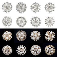 Women Wedding Bridal Bouquet Flower Rhinestone Crystal Brooch Pin Jewelry Gift