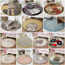 Small Large Circle Circular Traditional Rugs Modern Soft Affordable Round Rugs