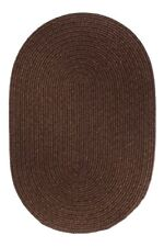 Super Area Rugs, Pura 100% Wool Solid Braied Rug in Walnut