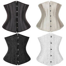 Underbust Beautiful Brocade Bridal Corset Bustier Top Body Shapewear Steel Boned