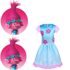 Kids Baby Girls Trolls Costume Princess Cosplay Fancy Dress Outfit Wig SZ 18M-10
