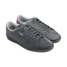 Puma Ignite Staple Mens Gray Suede Lace Up Sneakers Shoes