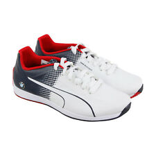 Puma Ms Evospeed Lace Mens White Textile Lace Up Sneakers Shoes