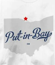 Put-in-Bay, Ohio OH MAP Souvenir T Shirt All Sizes & Colors