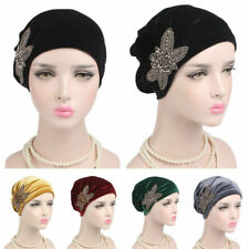 Muslim Women Chemo Hijab Hat Islamic Flower Cap Underscarf Arab Headwear Turban