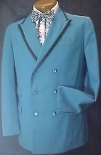VINTAGE AFTER SIX ROYAL BLUE WITH BLACK  TUXEDO JACKET MENS RETRO TUX (FADED)