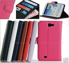 Leather Wallet Folding Stand Card Pocket Cover Case Samsung Galaxy Note II N7100