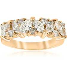 14k Yellow Gold 1 1/2 ct TDW Marquise Diamond Wedding Anniversary Ring