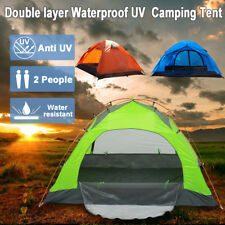 2-3 Persons Double layer Tent Waterproof UV Family Outdoor Camping Hiking  +bag