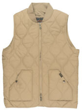Grizzly Griptape Big Game Zip Up Quilted Vest Outerwear Jacket Coat Mens Khaki