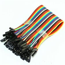 40PCS Dupont wire jumper cables 30CM Length 2.54MM Male Female 1P-1P For Arduino