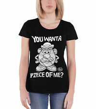 Mr Potato Head T Shirt You Want A Piece Of Me new Official Womens Skinny Fit