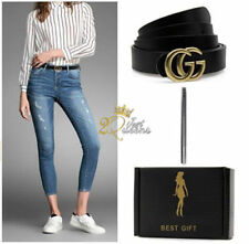 """HOT Womens Genuine Leather Thin Belts For Jeans 1.1 Belt For Women's Pants """"GG"""""""