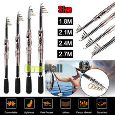 2018 New Carbon Fiber Superhard Travel Telescopic Fishing Rod Sea Spinning Pole