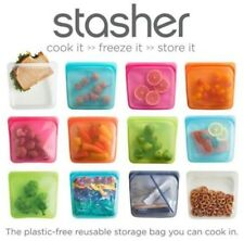 Stasher Reusable Food Storage Bag Plastic Free 100% Recyclable All Sizes