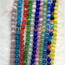 50pcs Round Cat's Eye Opal Loose Beads 6/8/10/12mm Gemstone DIY Necklace Jewelry