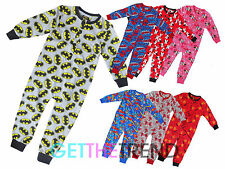 Boys Girls Childrens Cotton Nightwear Mickey Minnie Mouse LFC All In One Onezee