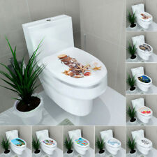 Vinyl Art Paper Removable Bathroom Decor DIY Toilet Seat Wall Sticker Decals