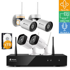 Wireless Security Camera System with Hard Drive and Audio