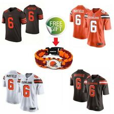 Mens Cleveland Browns Baker Mayfield Jersey #6 Stitched Jersey & FREE GIFT