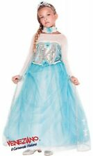 Italian Made Girls Deluxe Ice Queen Princess Book Day Fancy Dress Costume Outfit