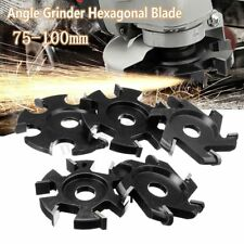Tooth Wood Carving Tool Disc Hexagonal Blade H16 For 16mm Aperture Angle Grinder