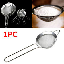 Tea Sieve Filter Tools Sifter Flour Strainer Mesh Colander Stainless Steel