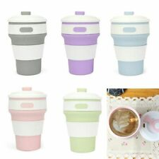 Silicone Folded Coffee Cup Telescopic Drinking Folding Portable Cup Travel Silic