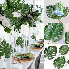 60Pcs Hawaiian Artificial Palm Leaves Tropical Plant Beach Home Party Decor new