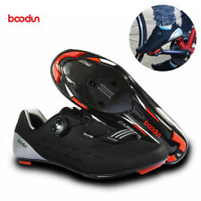 BOODUN Men Road Carbon Cycling Bicycle Shoes for Shimano SPD System Bike Shoes