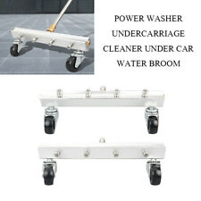 """New Pressure Power Washer Water Broom Undercarriage Under Car Cleaner 1/4"""""""