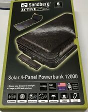 Artikelbild Solar 4-Panel Powerbank 12000 mAh Handy Tablet NEU