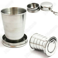 Stainless Steel Portable Mini Telescopic. Outdoor Travel Folding Collapsible Cup