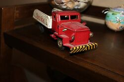 pressed steel tin toy truck